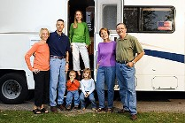 Family with RV, RV Trading