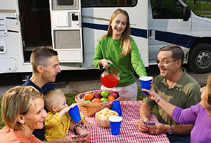 Family Outside RV, RV Buying